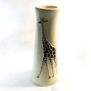 Giraffe candle holder, soapstone