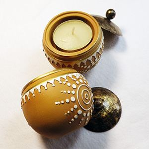 Set of 2 Tealight holders Sun