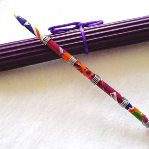 Pen made of recycled drinking can - mauve