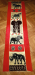 Hand painted table runner with the Big5, orange