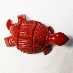 Soapstone turtle/tortoise - red
