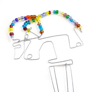 Bookmark Lion Beads