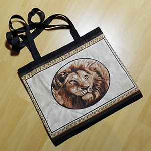 Shopper black, Lion portrait