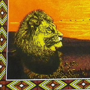 Shopper black, lion, sunset