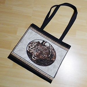 Shopper black, Leopard portrait