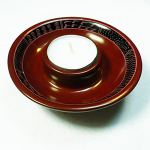 Tealight holder, dark red