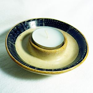 Tealight holder, natural colour