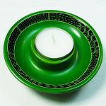 Tealight holder, green