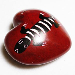 Small Heart (S03 flat) made of soapstone (Kenia)