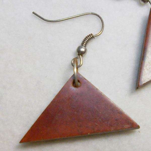 Soapstone earrings triangle