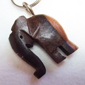 Keyring Elephant, wood
