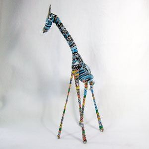 Recycled Can Giraffe - (06)