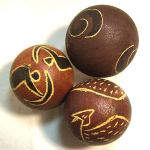 Painted Monkey balls (Set of 3) (06A)